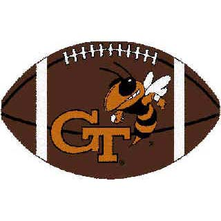 Logo Rugs Georgia Tech University Georgia Tech Football 3 x 6 GTFB2
