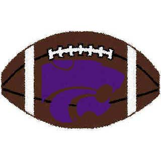 Logo Rugs Kansas State University Kansas State Football 2 x 2 KSFB