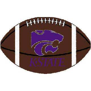 Logo Rugs Kansas State University Kansas State Football 3 x 6 KSFB2