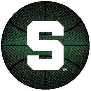 Logo Rugs Michigan State University Michigan State Basketball 4 ft MISBB2