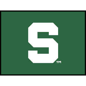 Logo Rugs Michigan State University Michigan State Entry Mat 2 x 2 MISEM3