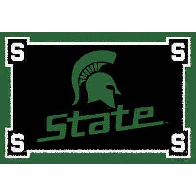 Logo Rugs Michigan State University Michigan State Area Rug 4 x 6 MISAR4