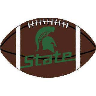 Logo Rugs Michigan State University Michigan State Football 3 x 6 MISFB2