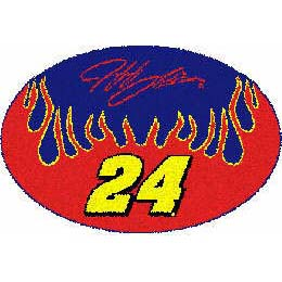Logo Rugs Jeff Gordon Jeff Gordon Oval Rug 2 x 3 JG24OVAL