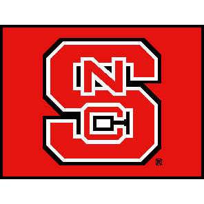 Logo Rugs North Carolina State University North Carolina State Entry Mat 2 x 2 NSEM3