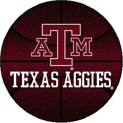 Logo Rugs Texas A & M University Texas A&M Basketball 4 ft TAMBB2