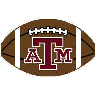 Logo Rugs Texas A & M University Texas A&M Football 2 x 2 TAMFB