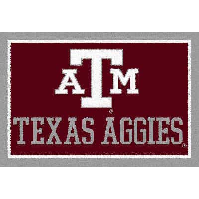 Logo Rugs Texas A & M University Texas A&M Area Rug 3 x 5 TAMAR3