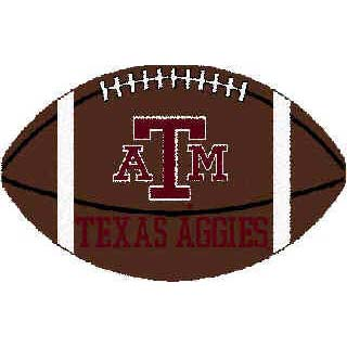 Logo Rugs Texas A & M University Texas A&M Football 3 x 6 TAMFB2