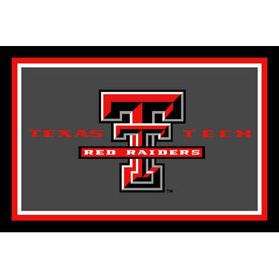 Logo Rugs Texas Tech University Texas Tech Area Rug 3 x 5 TTAR3