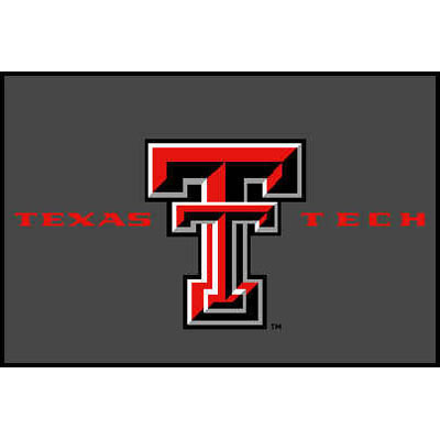 Logo Rugs Texas Tech University Texas Tech Entry Mat 2 x 2 TTEM1