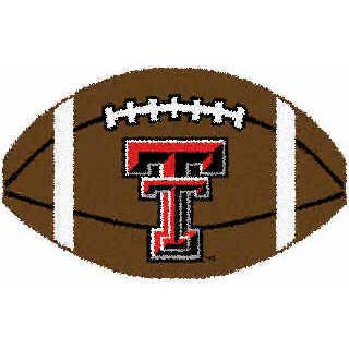 Logo Rugs Texas Tech University Texas Tech Football 3 x 6 TTFB2
