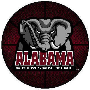 Logo Rugs Alabama University Alabama Basketball 4 ft ALBB2