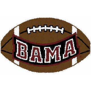 Logo Rugs Alabama University Alabama Football 1 x 2 ALFB