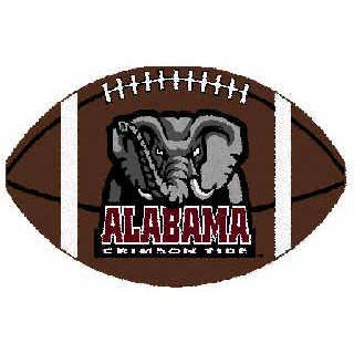 Logo Rugs Alabama University Alabama Football 3 x 6 ALFB2