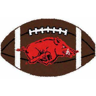 Logo Rugs Arkansas University ARKANSAS FOOTBALL 2 x 2 ARFB Style ...