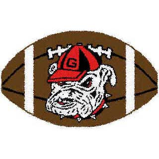 Logo Rugs Georgia University Georgia Football 3 x 6 GAFB2