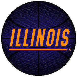 Logo Rugs Illinois University Illinois Round Rug 4 ft ILBB48
