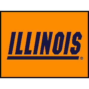 Logo Rugs Illinois University Illinois Entry Mat 2 x 2 ILEM3