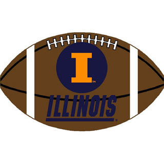 Logo Rugs Illinois University Illinois Football 3 x 6 ILFBL