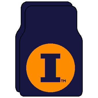 Logo Rugs Illinois University Illinois Car Mat ILFM2