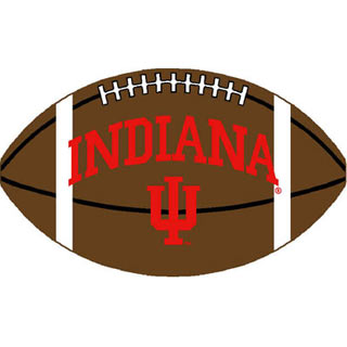 Logo Rugs Indiana University Indiana Football 3 x 6 INFB2
