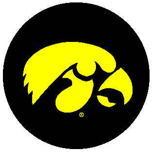 Logo Rugs Iowa University Iowa Round Rug 4 ft IORD48