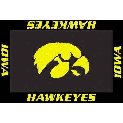 Logo Rugs Iowa University Iowa Area Rug 4 x 6 IOAR6