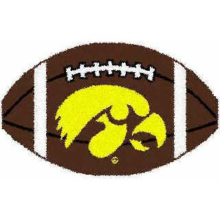 Logo Rugs Iowa University Iowa Football 2 x 2 IOFB