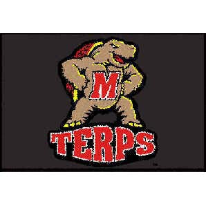 Logo Rugs Maryland University Maryland Entry Mat 2 x 2 MYEM1
