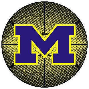 Logo Rugs Michigan University Michigan Basketball 4 ft MIBB2