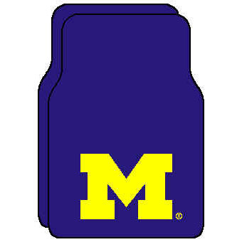 Logo Rugs Michigan University Michigan Car Mat MIFM2