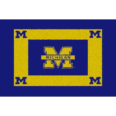Logo Rugs Michigan University Michigan Area Rug 4 x 6 MIAR6