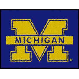 Logo Rugs Michigan University Michigan Entry Mat 2 x 2 MIEM1