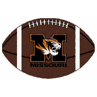 Logo Rugs Missouri University Missouri Football 3 x 6 MOFB2