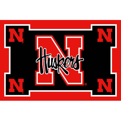 Logo Rugs Nebraska University Nebraska Area Rug 3 x 5 NEAR5