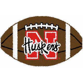 Logo Rugs Nebraska University Nebraska Football 3 x 6 NEFB2