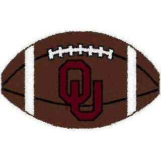 Logo Rugs Oklahoma University Oklahoma Football 2 x 2 OKFB