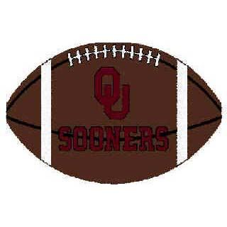 Logo Rugs Oklahoma University Oklahoma Football 3 x 6 OKFB2