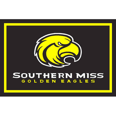 Logo Rugs Southern Mississippi University Southern Mississippi Area Rug 3 x 5 SMAR5