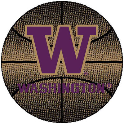 Logo Rugs Washington University Washington Basketball 4 ft WABB2