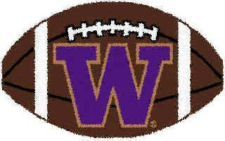 Logo Rugs Washington University Washington Football 2 x 2 WAFB