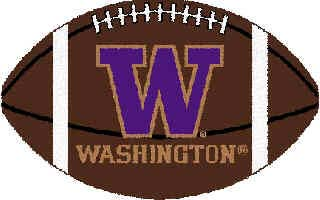 Logo Rugs Washington University Washington Football 3 x 6 WAFB2