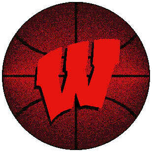 Logo Rugs Wisconsin University Wisconsin Basketball 4 ft WIBB2