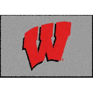 Logo Rugs Wisconsin University Wisconsin Entry Mat 2 x 2 WIEM1