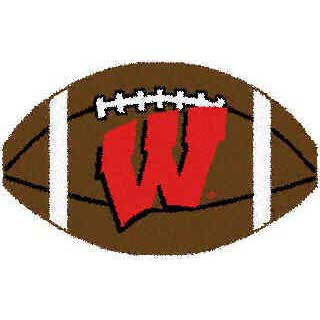 Logo Rugs Wisconsin University Wisconsin Football 2 x 2 WIFB