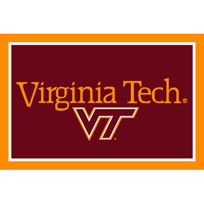 Logo Rugs Virginia Tech University Virginia Tech Area Rug 4 x 6 VTAR6