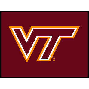 Logo Rugs Virginia Tech University Virginia Tech Entry Mat 2 x 2 VTEM1