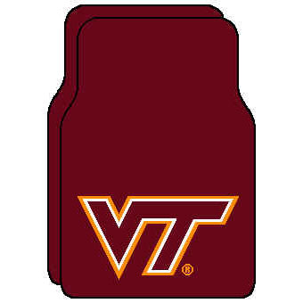 Logo Rugs Virginia Tech University Virgnia Tech Car Mat VTFM1