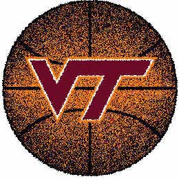 Logo Rugs Virginia Tech University Virginia Tech Basketball 4 ft VTBB2